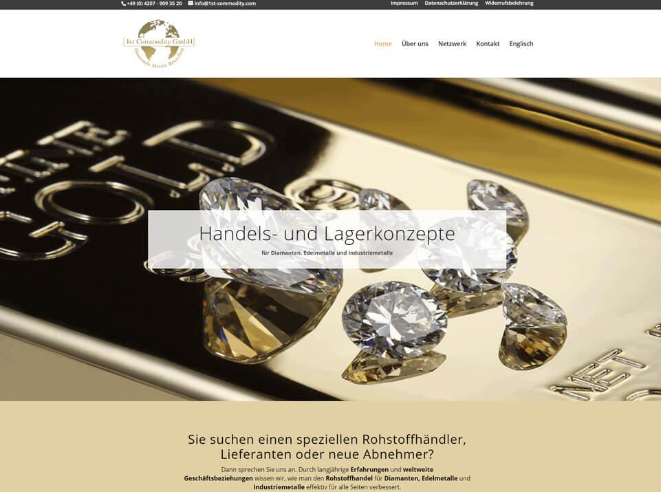 Komplette Webseite mit Konzept, Text, Design