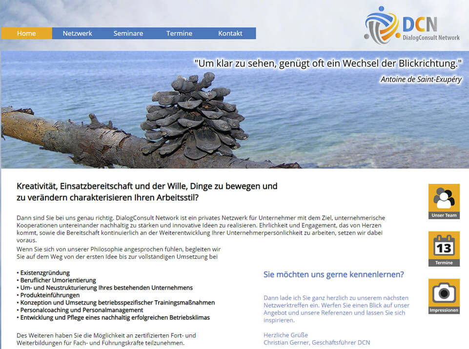 Webtexte & Konzept DialogConsult Network Muenchen