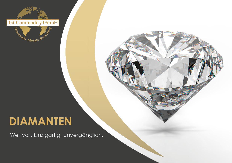 Werbetexte und Design für Diamantbroschüren